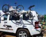 Suction cup car mount. © Cyclocross Magazine