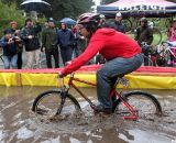 Some racers avoided aligators by riding the water pit.  SSCXWC 2011 © Cyclocross Magazine