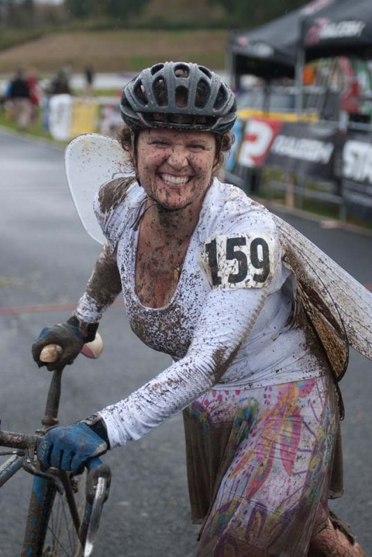 Sheila Moon as a muddy SF fairy after SSCXWC © Karen Johanson