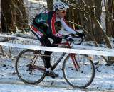 Eckmann put in a great ride in the snowy conditions. ? Bart Hazen