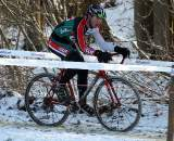 David Kessler rode through the snow to one of his best finishes while at EuroCrossCamp. ? Bart Hazen