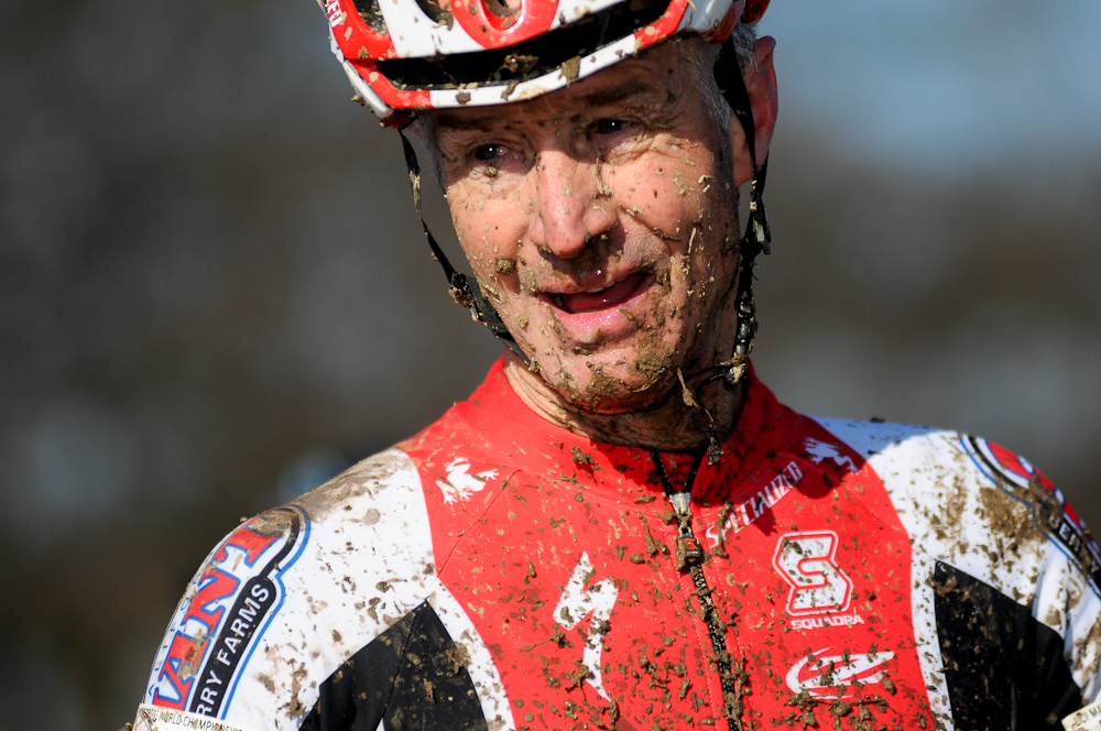 Everyone in the afternoon races came away with muddy faces. ©Steve Anderson