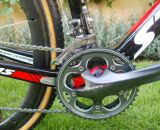 Shimano CX70 170mm crank on the Stevens. © Christine Vardaros