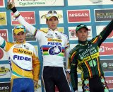 Pauwels (l), Stybar and Nys on the podium in Zonhoven. © Bart Hazen