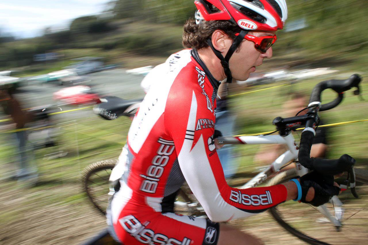 Ben Jacques-Maynes gets in some training for road season. Surf City Cyclocross Series Finale, Aptos High School, 1/10/10. ? Cyclocross Magazine