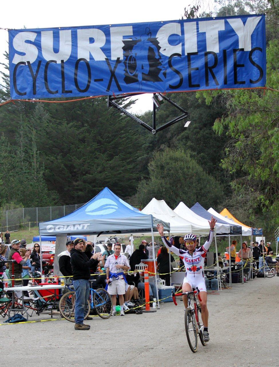 Miller takes the win. Surf City Cyclocross Series Finale, Aptos High School, 1/10/10. ? Cyclocross Magazine