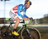 Johnson showed determination despite a large gap. Surf City Cyclocross Series Finale, Aptos High School, 1/10/10. ? Cyclocross Magazine