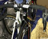 Shimano's PRO Vibe UD carbon handlebar is Nys' bar of choice.  © Cyclocross Magazine