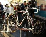 Sven Nys' Colnago Cross Prestige bike on display. © Dan Seaton
