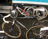 Nys has a stable of different Colnago Carbon Cross bikes to choose from. ? Dan Seaton