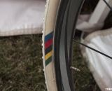 Nys will be the only Elite male to ride Dugast tires with these markings this year. © Cyclocross Magazine