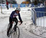 Amy Dombroski warming up. 2010 Cyclocross World Championships, Tabor. ? Dan Seaton