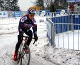 Meredith Miller pre-riding. She'd be the top American. 2010 Cyclocross World Championships, Tabor. ? Dan Seaton