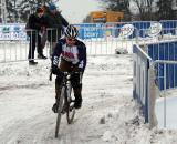 Laura Van Gilder did her first race of the season in Europe at Worlds. 2010 Cyclocross World Championships, Tabor. ? Dan Seaton