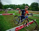 Jared Nieters (Haymarket) was one of the early leaders in the Men's Elite race at the Tacchino Ciclocross. © Jay Westcott