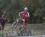 Rutgers riders demonstrate speed through the barriers. © Jamie Mack