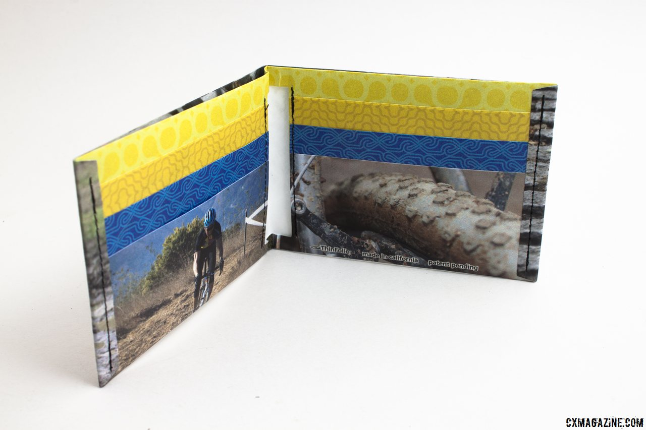 Teammate photo is optional. The ThinFolio Tyvek 11g wallet, made in California. © Cyclocross Magazine