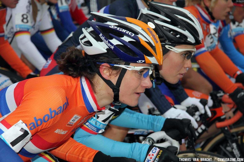 Pre-race focus, Marianne Vos and Sanne Cant. ©Thomas Van Bracht