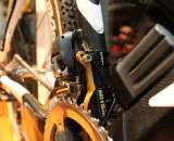 Molly Cameron's Shimano Dura Ace Di2 bike was quite a contrast from Bowen's bike from the 90's.