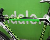 It may be a prototype, but even the elictral tape quick cable routing fix is in Cannondale bright green. ©Cyclocross Magazine