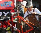 Todd Gold wrenching away. Photo courtesy Todd Gold