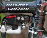 The TRP Brakes Parabox hydraulic disc brake adaptor sits below the stem and requires about 25mm of space on the steerer. You could run it above the stem if necessary.  Cyclocross Magazine