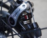 A circlip allows pad removal on the TRP Brakes' Spyre Mechanical Disc Brake. © Cyclocross Magazine