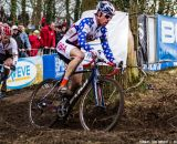 Jonathan Page on his way to a top 20 at the UCI World Championships of Cyclocross. © Thomas Van Bracht