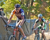 Trebon and Powers battled for most of the hot, dusty race © Jeffrey Jakucyk