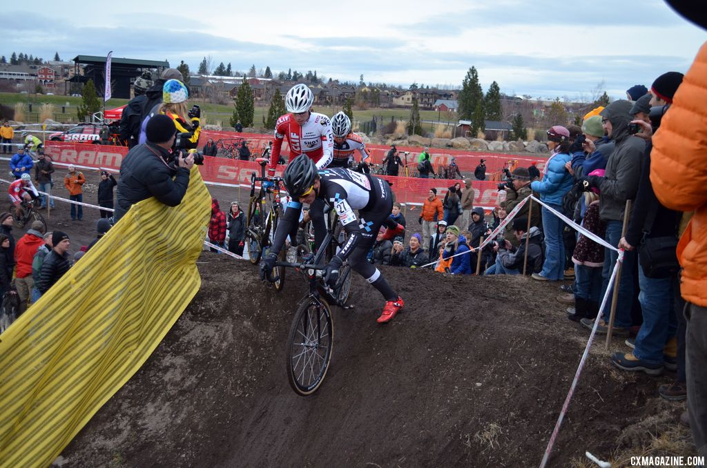 Remounting at the top was tricky. © Cyclocross Magazine