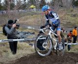 Summerhill makes the ride/run-up. © Cyclocross Magazine