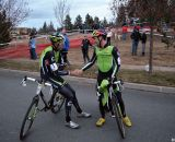 A tired Tim congratulates Ryan. © Cyclocross Magazine