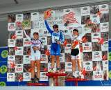 Women's Elite podium, Mercer Cup day 2 ? Tom Olesnevich
