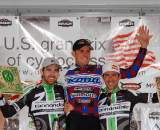 East Coast and West Coast get friendly - the men's Mercer Cup podium. ? Tom Olesnevich