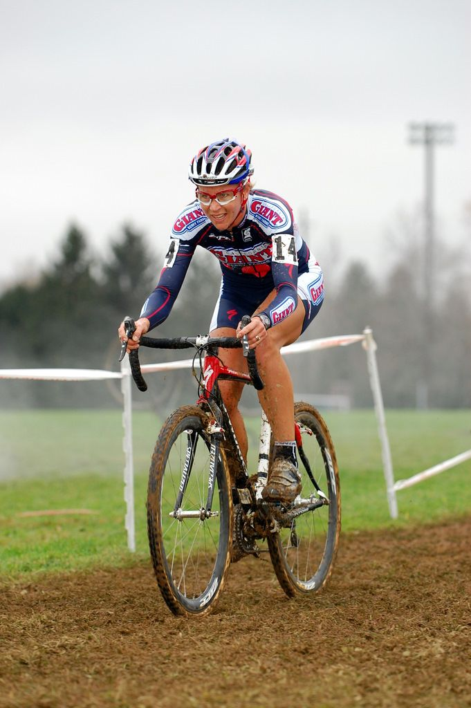 Meredith Miller enjoys the sloppy conditions. ? Tom Olesnevich