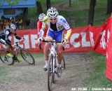 Bart Wellens leads Heule and Johnson up the climb. © Amy Dykema