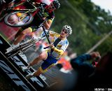 Wellens and Trebon at the barriers. 2011 USGP Planet Bike Cup Day 1. © VeloVivid Cycling Photography