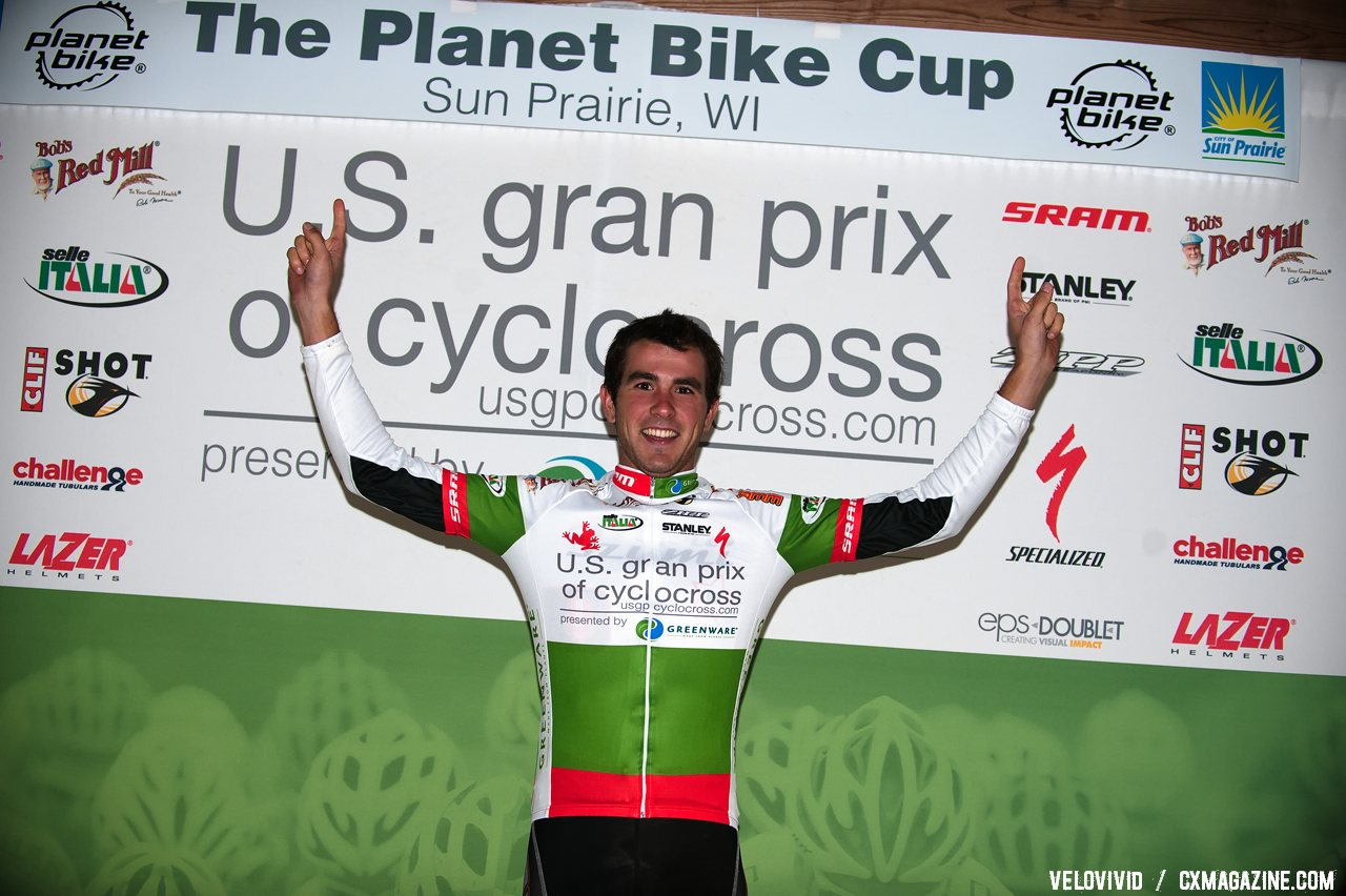 U23 Leader, Yannick Eckmann. 2011 USGP Planet Bike Cup Day 1. © VeloVivid Cycling Photography