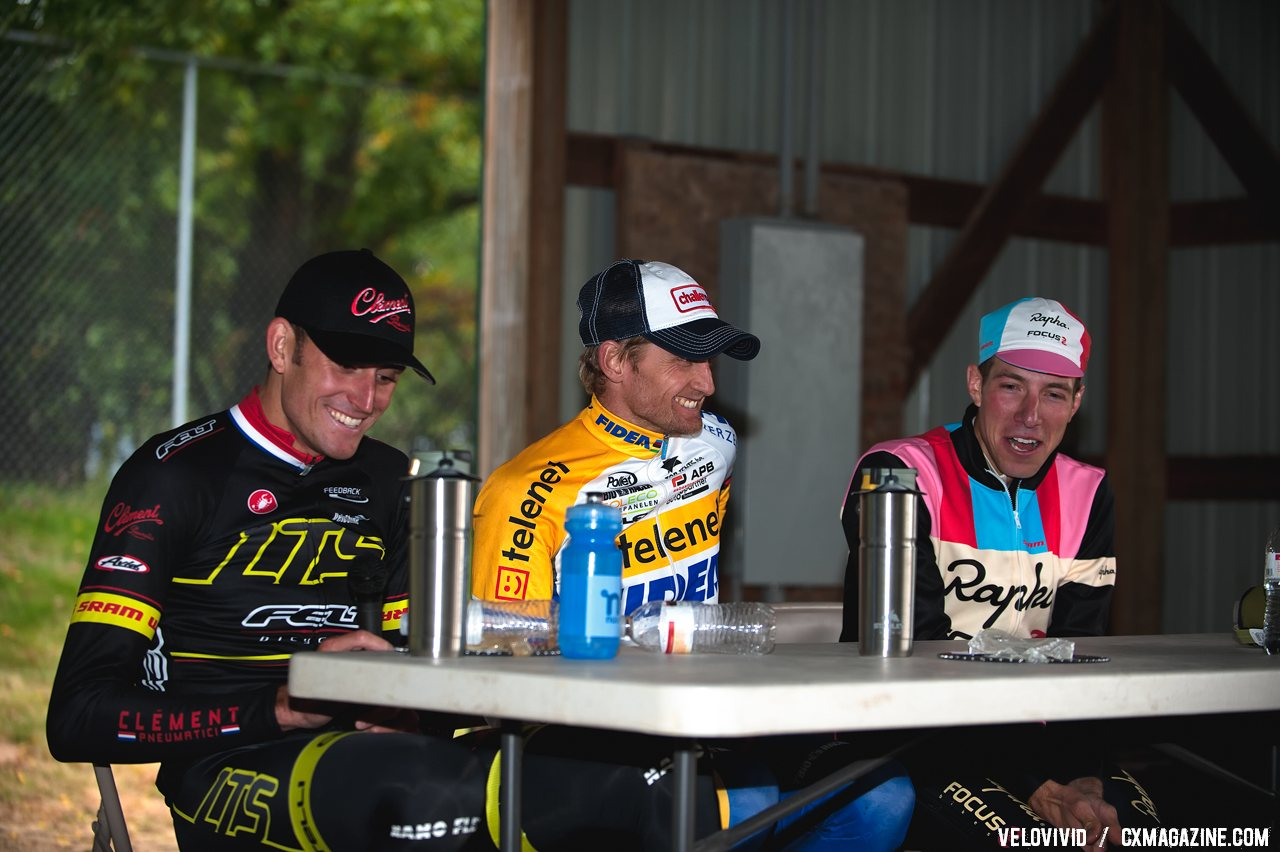 It\'s all smiles after the racing is over. 2011 USGP Planet Bike Cup Day 1. © VeloVivid Cycling Photography
