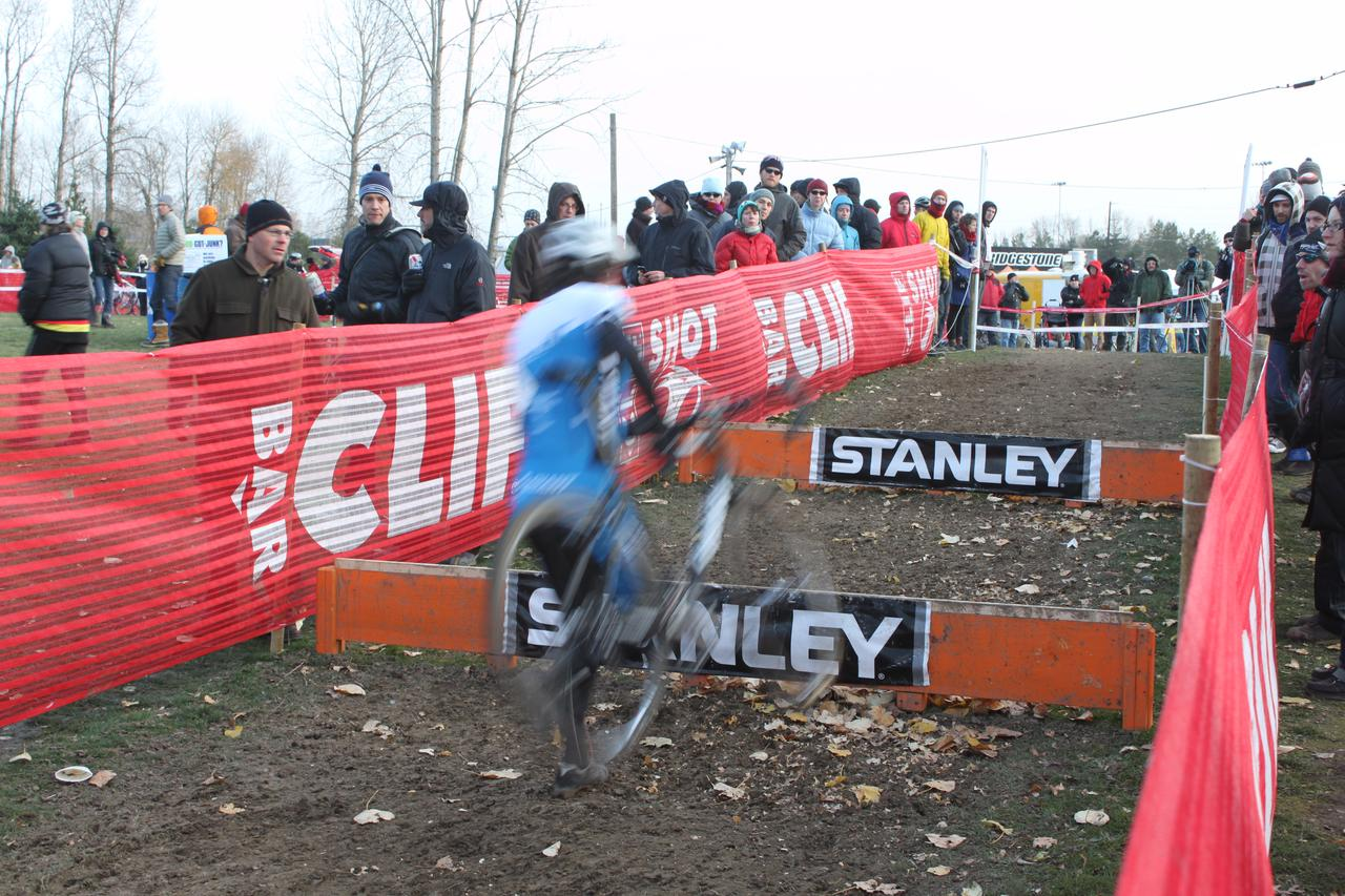 Adam Craig apporaches the barriers. ? Cyclocross Magazine