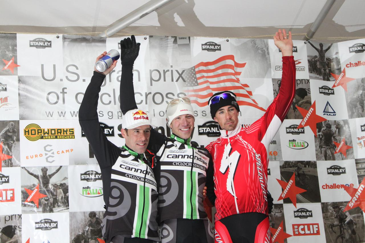 The men's podium. ? Andrew Yee