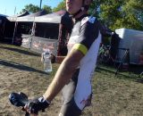 Brad White shows off injuries post-race. © Cyclocross Magazine