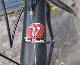 Van Dessel follows the trend with the tapered headtube in the cyclocross flagship © Cliff Lee