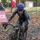 Christine Vardaros getting muddy midrace. ? Mario Yskout
