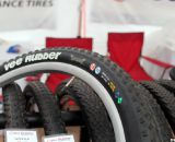 "Vee Rubber tires have symbols like S, M, H to designate intended usage, for ""soft,"" ""medium"" and ""hard"" conditions. Interbike 2011. © Cyclocross Magazine"