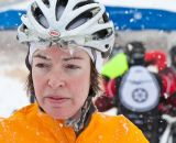 Kim Thomas is none the worse for wear after an icy endeavor ©Jack Kunnen