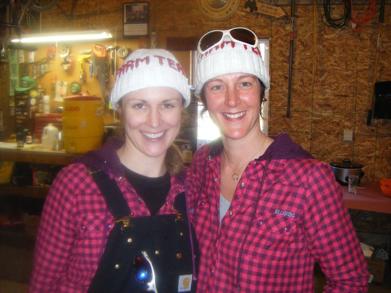 Snowcross Farm Team\'s Tara Jansen(l) and Shari Versluis post-race ©Marc Dettman