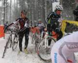 Vicki Thomas scampers over the snow in Kalmthout ? Luc Van Der Meiren