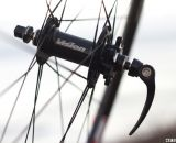 Vision Tech's Metron 40 disc hub on their carbon tubular wheels. © Cyclocross Magazine