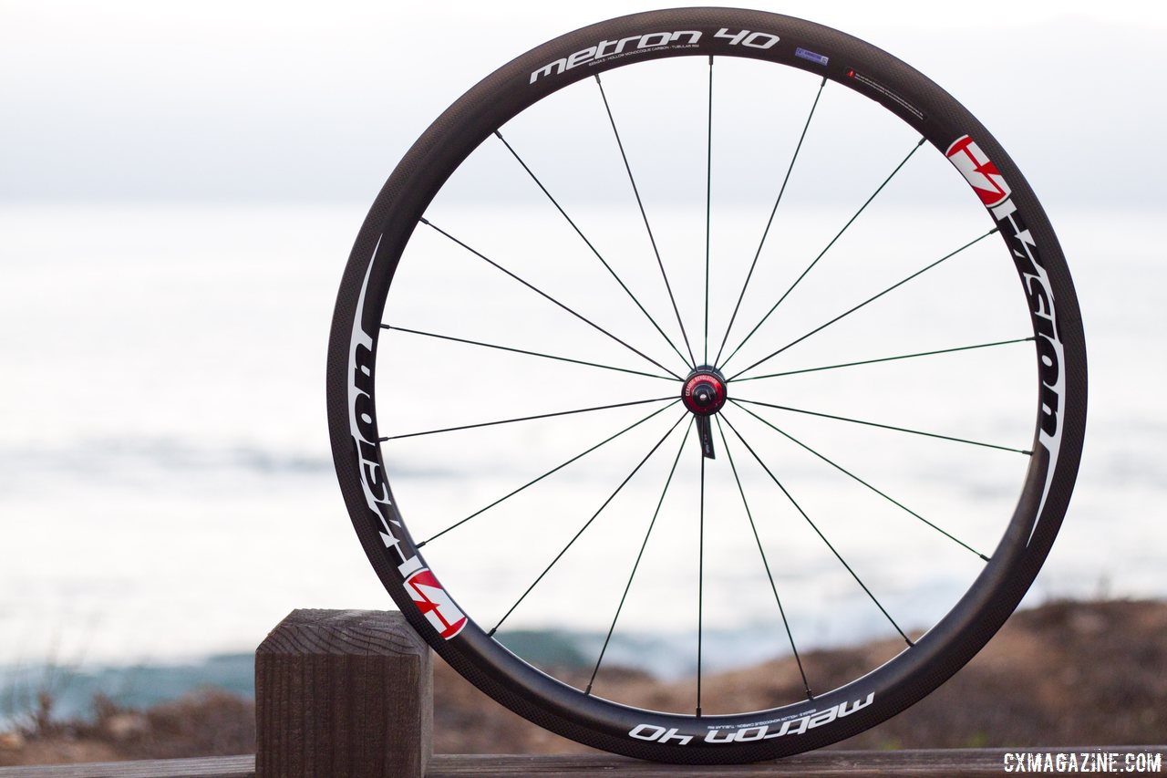 Vision Metron 40 tubular rim brake front wheel. © Cyclocross Magazine